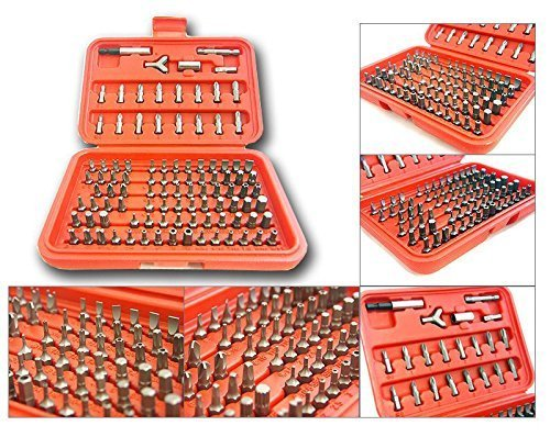 - 100pc Security Bit Set Torx Star Tamper Screws Hex Key Phillips Slotted Tri Wing by FONIES STORE