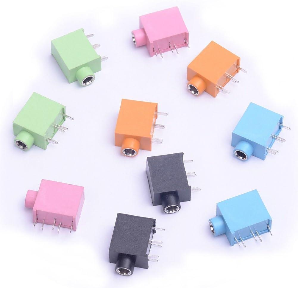 15pcs PCB Panel Mount 3.5mm Female Earphone Socket Jack Connector