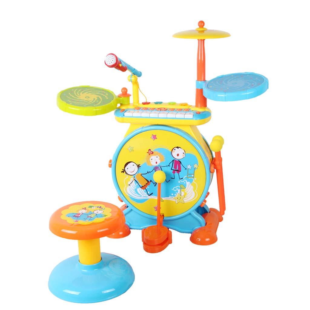 堅実な究極の DUWEN ドラムキット子供の音楽玩具3-6歳のパーカッションジャズドラム初心者の少年と少女パズルおもちゃ B07L62XN41 (色 (色 青 : 青) 青 B07L62XN41, デグナー通販(レザージャケット):8d6ffca6 --- a0267596.xsph.ru