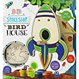 Grafix Make & Paint Your Own 3D Spaceship Birdhouse Craft Activity Kit