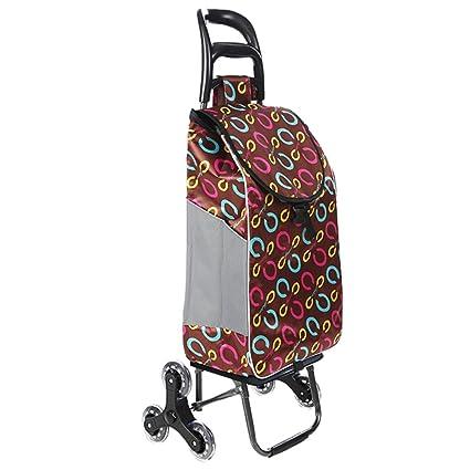 adcdada091b8 Amazon.com: SYF Trolley Travel Grocery Stroller Cart 6PU Wheel ...