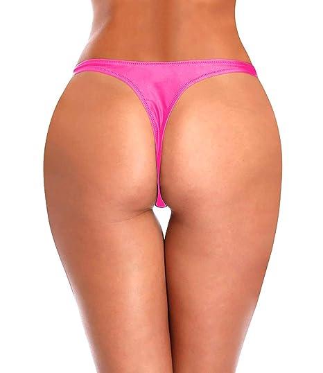 9fb98531f26 Amazon.com: KIWI RATA Womens T-Back Thong G-String Swimwear Sexy Brazilian  Bikini Bottom Swimsuit: Clothing