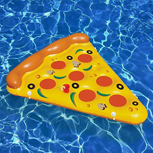 Lucky Monet Inflatable Pizza Slice Pool Float Swimming Pool Party Rafts Summer Beach Floatie Lounge for kids and Adults
