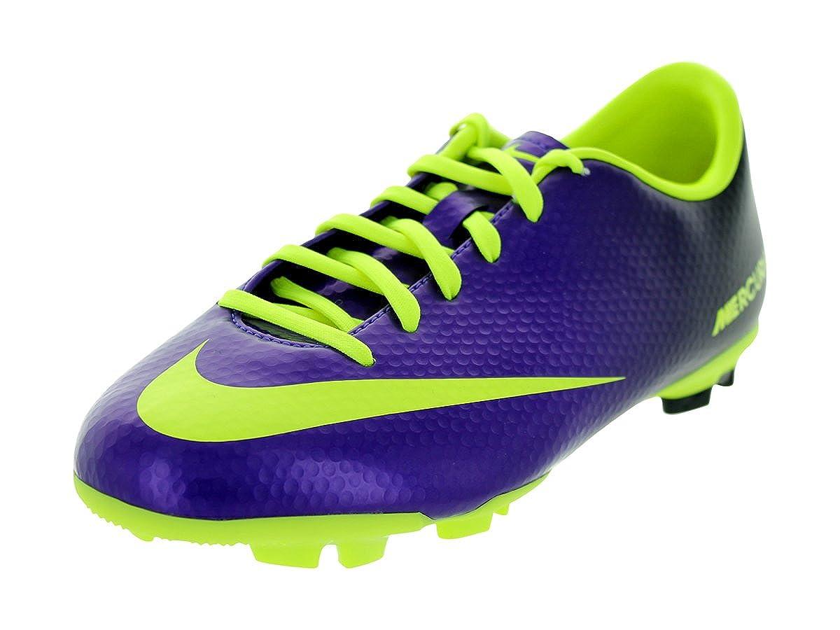 fresa Conjugado Proceso de fabricación de carreteras  Nike New JR Mercurial Victory IV FG Purple/Volt Boys 1: Amazon.in: Shoes &  Handbags