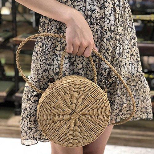 vacaciones playa de tejida redondo Mujer mano ideal de niña bolsa pajita viaje mujer ratán bolsa a mujer Bolsa bolsa playa para regalo nbsp;fancylande nbsp;– playa de UqwWFPfx6t