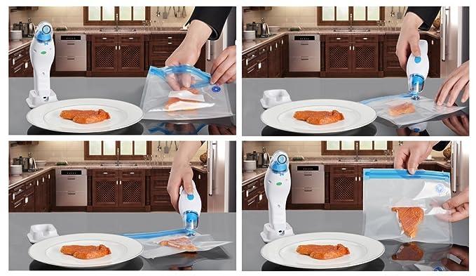 El sellador de mano de vacío, ahorro de Alimentos, Práctico de ...
