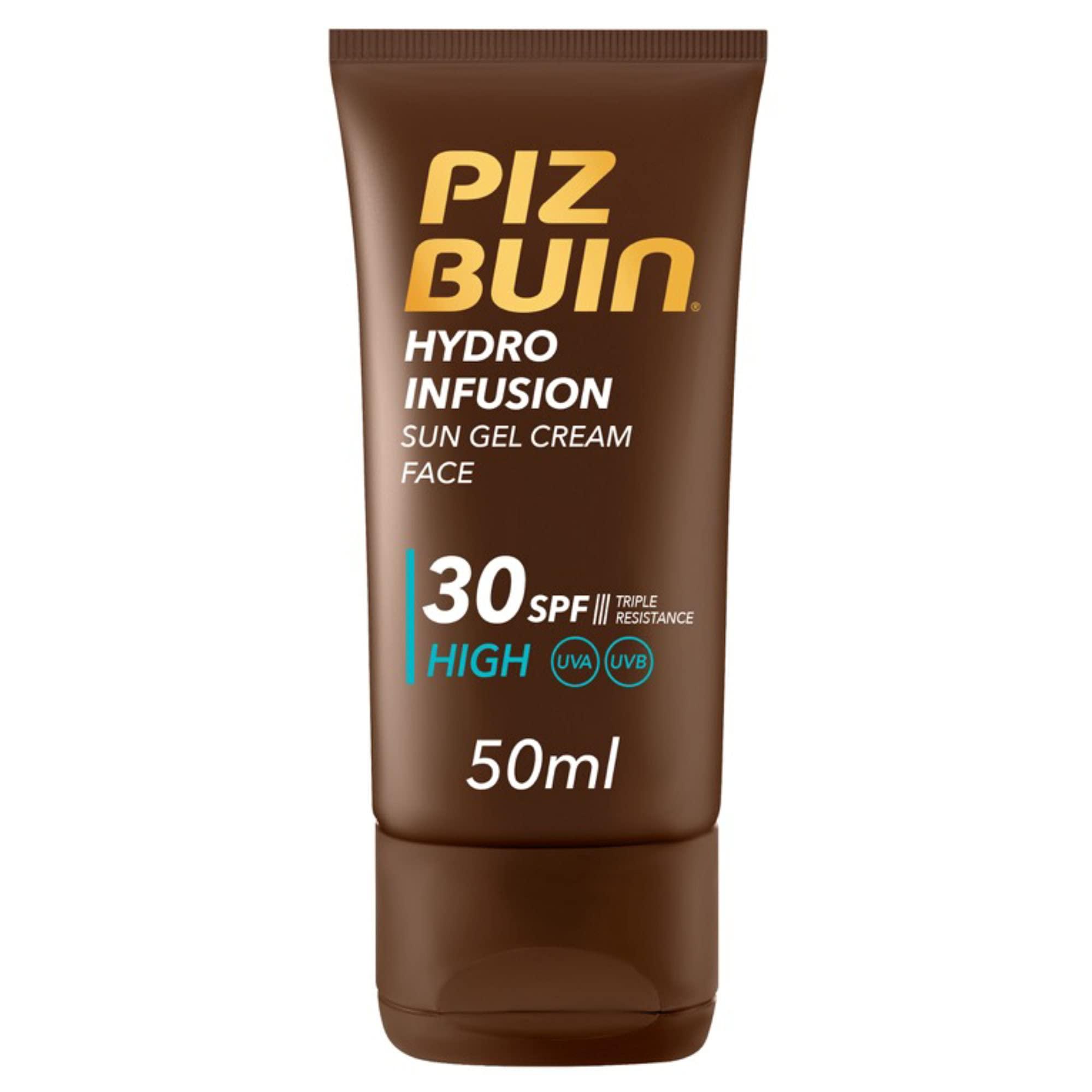 Piz Buin, Protección Solar Facial en Gel, Hydro Infusion SPF 30 Protección Alta, 50 ml