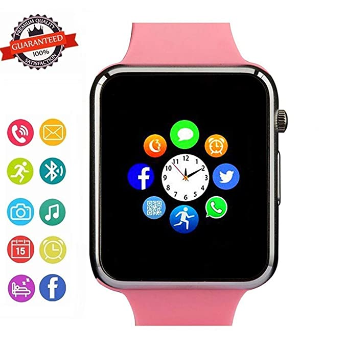 Smart Watch - Wzpiss Life Waterproof Smart Wrist Watch Bluetooth Smartwatch Phone Fitness Tracker with SIM SD Card Slot Camera Pedometer Compatible ...