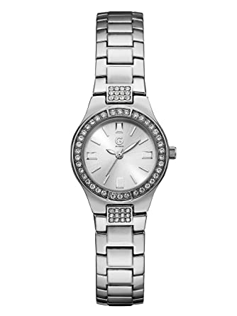 f7fc79f5eb49 Image Unavailable. Image not available for. Color  G by GUESS Women s Silver-Tone  and Rhinestone Slim Watch