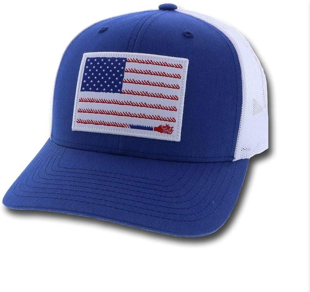 1905T-Blwh HOOEY Mens Liberty Roper Flag Patch Cap