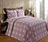 Better Trends / Pan Overseas 102 X 110 Inch Rosa Bedspread, Queen, Pink