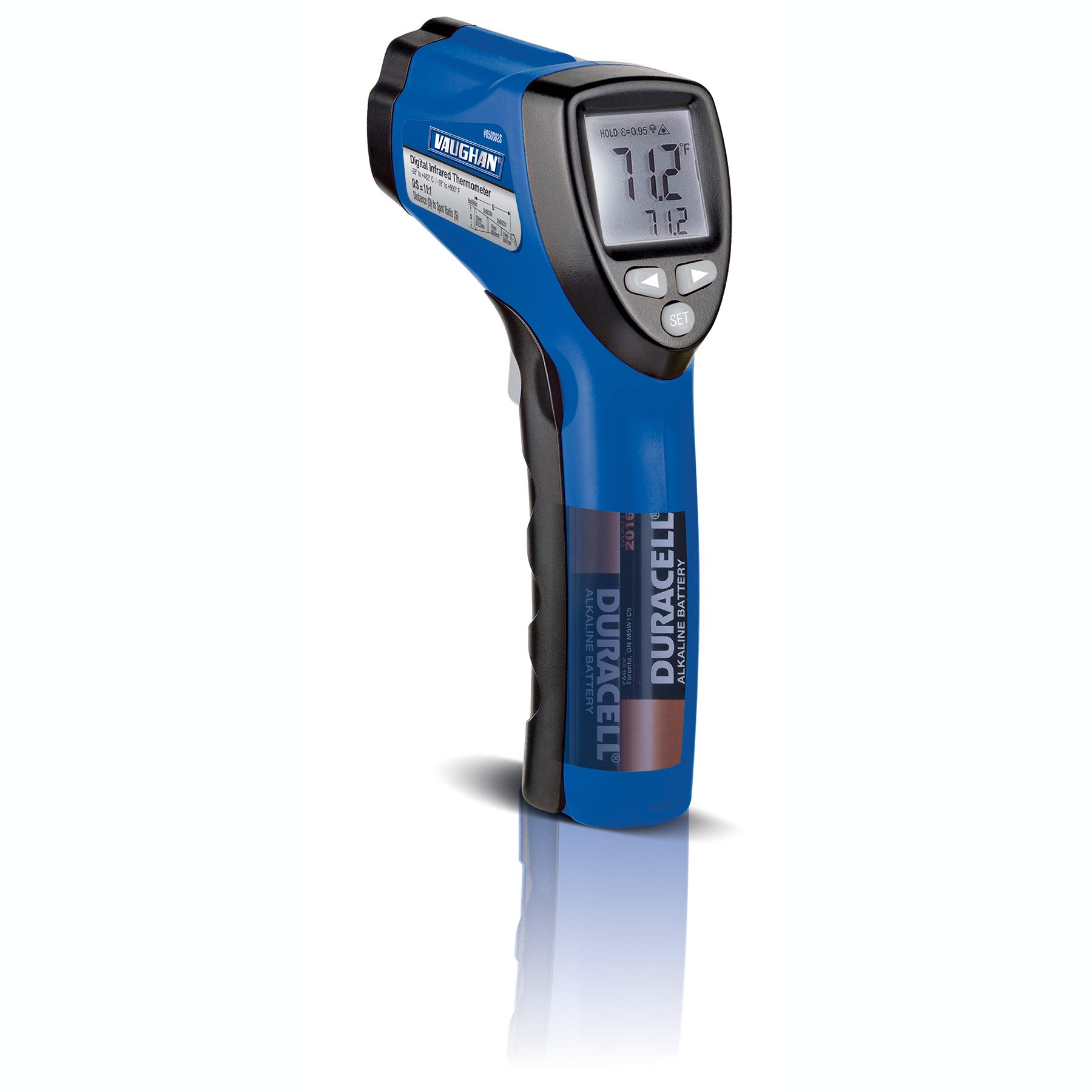 Vaughan 3-Color Infrared Circular Laser Thermometer Color-Coded Display - 240023 by Vaughan (Image #1)