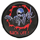 Leather Rainproof Skull Spare Tire Cover Case For 1/10 RC Traxxasss TRX-44 Crawler