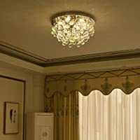 Crystal Ceiling Light LED 3 Brightness Crystal Chandelier Chandelier Ceiling Light Suitable for Staircase Corridor…