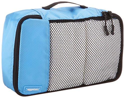 61fYOeVPOML - AmazonBasics 4 Piece Small Packing Travel Organizer Cubes Set - Sky Blue