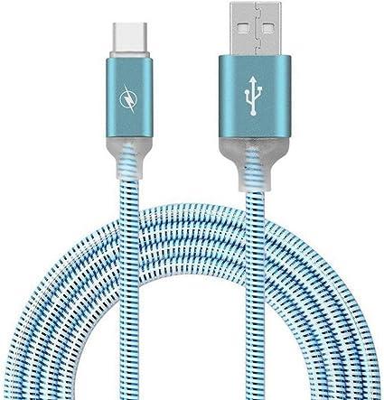 Cable USB C Tipo C de 1 m con luz LED Intermitente, Aleación de ...