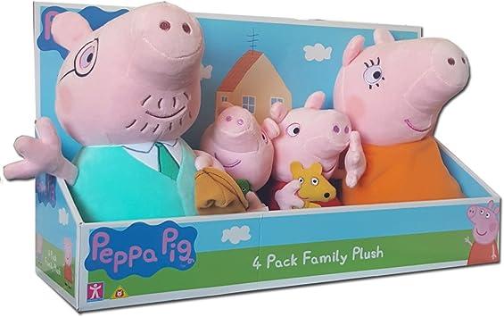 Peppa Pig 4 Family Paquete de peluche de peluche en caja de ...