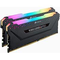CORSAIR Vengeance RGB PRO 16GB (2x8GB) DDR4 3000MHz C16 Desktop Gaming Memory Black CMW16GX4M2D3000C16