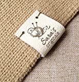 Center fold leather labels Custom folding labels Personalized logo labels Leather labels Branding tags Clothing labels Knitting labels 25 pc