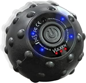 Vulken Acusphere 4 Speed High Intensity Vibrating Massage Ball for Muscle and Fitness, Plantar Fasciitis Pain Relief, Myofascial Release and Trigger Point Treatment