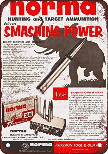 1955 Norma Ammunition Vintage Look Reproduction Metal Tin Sign 12X18 (Norma Ammunition)