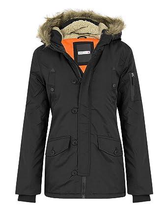 d1b3371a9 shelikes Boys Kids Back to School Parka Padded Fur Hood Coat Age 3 ...
