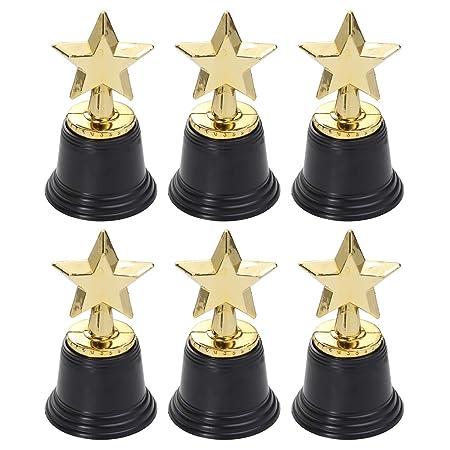Toyvian 6pcs Mini trofeos de Oro Estrella para niños ...
