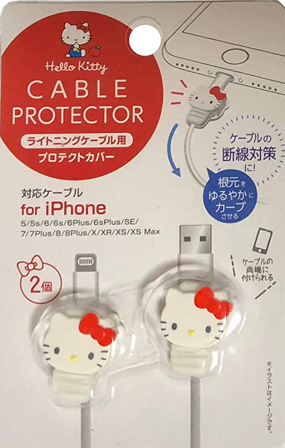 Cross Type Sanrio Hello Kitty Cable Mascot Pink Cable Protection for iPhone