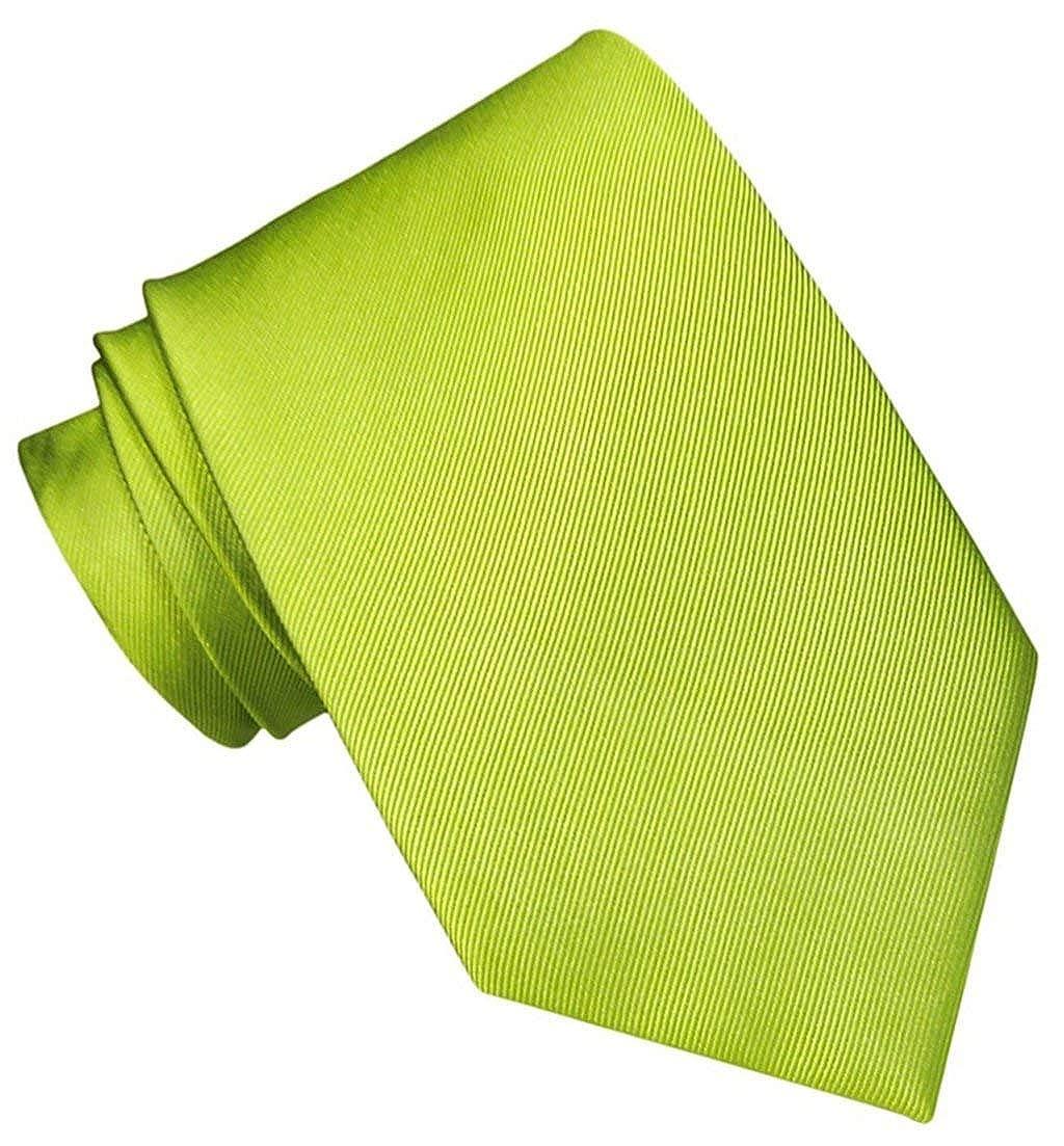 JOSVIL Corbata Verde Pistacho. Corbata de seda para hombre ...