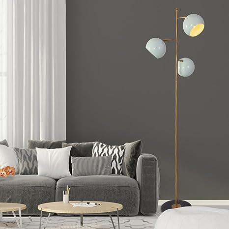 HUIMIN &Lámpara de pie Diseño Moderno Europa del Norte ...