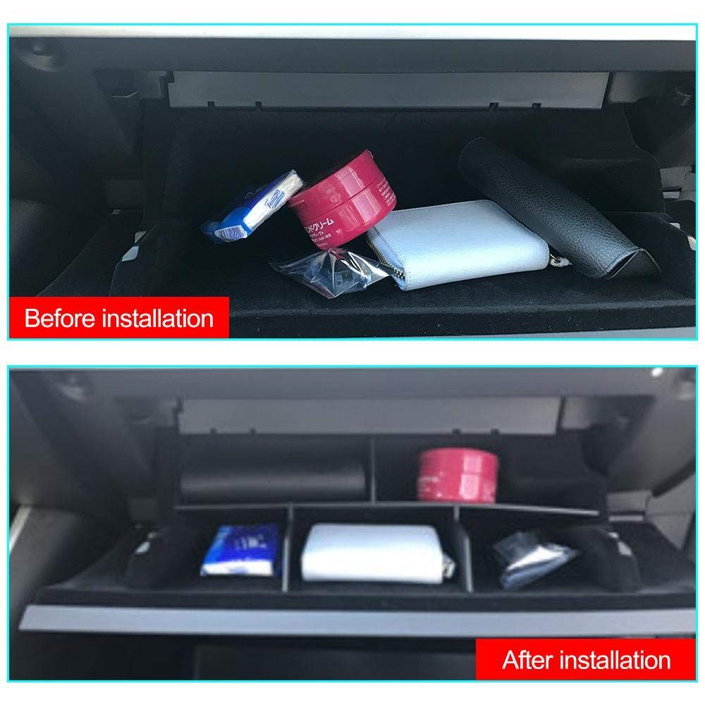 Glove Box Organizer Glove Compartment Divider for Tesla Model 3 Car Central armrest Box Stowing Tidying Glove Box