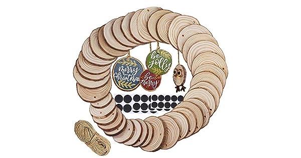 Amazon.com: Supla 40 piezas de 3 tamaños redondos de maderas ...