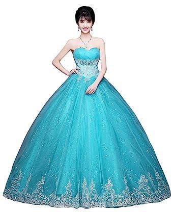 e62d7be96 Beauty-Emily lentejuelas bordado Escote Corazón de la princesa del sin  tirantes del vestido de boda sin mangas  Amazon.es  Ropa y accesorios