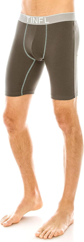 TINFL Mens Breathable Cotton Long Leg Boxer Briefs Underwear Multipacks