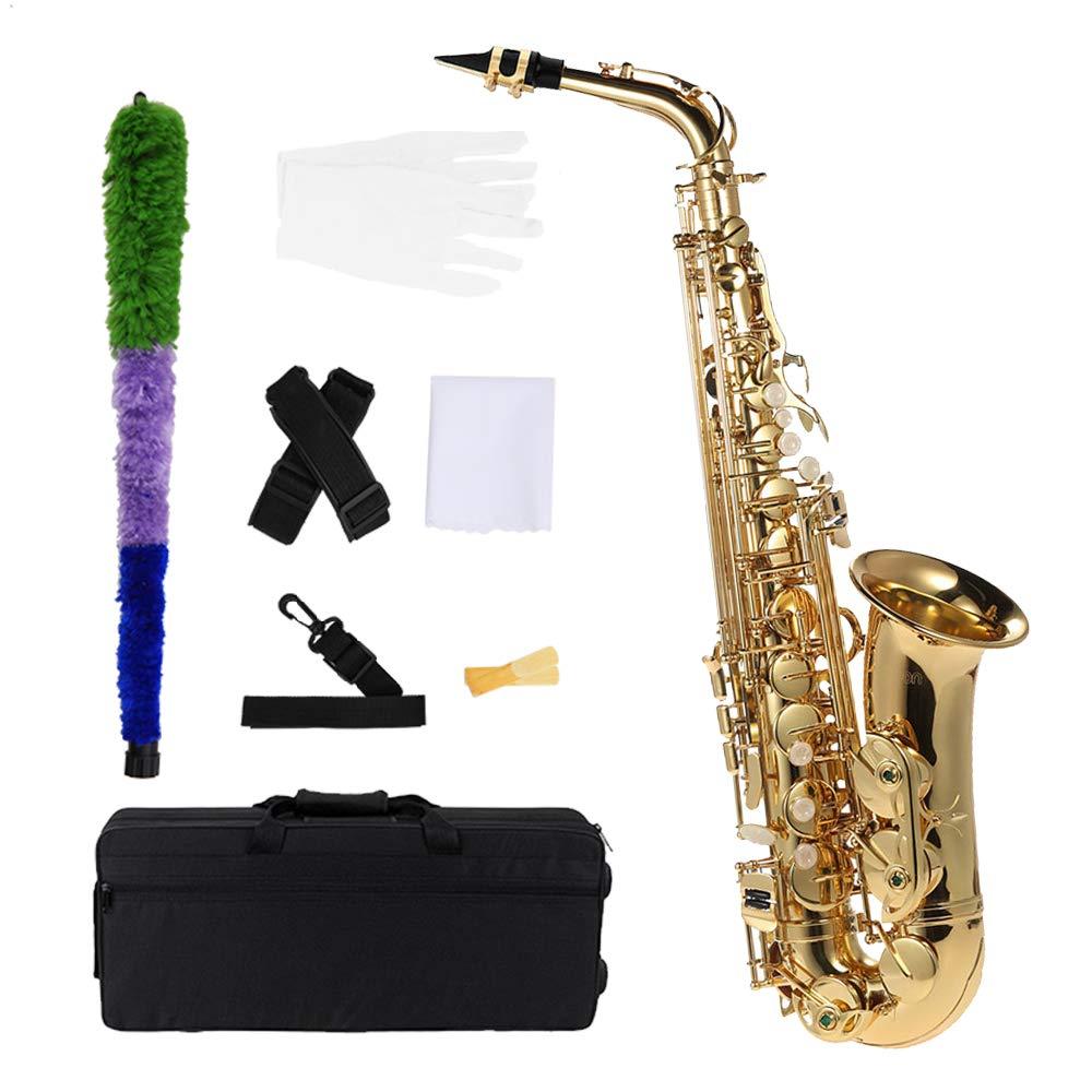 Saxofon Latón lacado Oro E Flat Sax 802 Clave