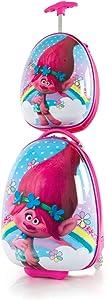 Heys America DreamWorks Egg Shape Trolls Kids Luggage and Backpack Set