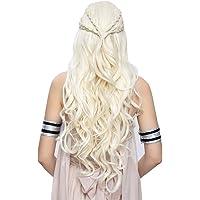 Daenerys Targaryen Cosplay Wig for Game of Thrones Season 7 - Khaleesi Costume Hair Wig (Light blonde)