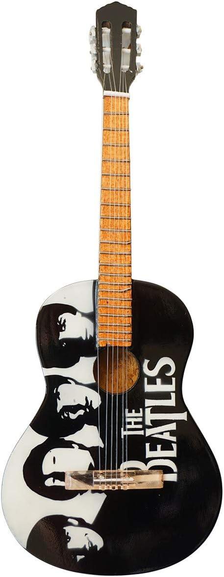 The Beatles Tribute guitarra en miniatura de madera: Amazon.es: Hogar