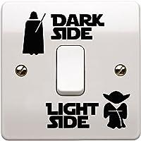 JustStickers® Star Wars Donkere zijde lichte zijde vinyl lichtschakelaar sticker