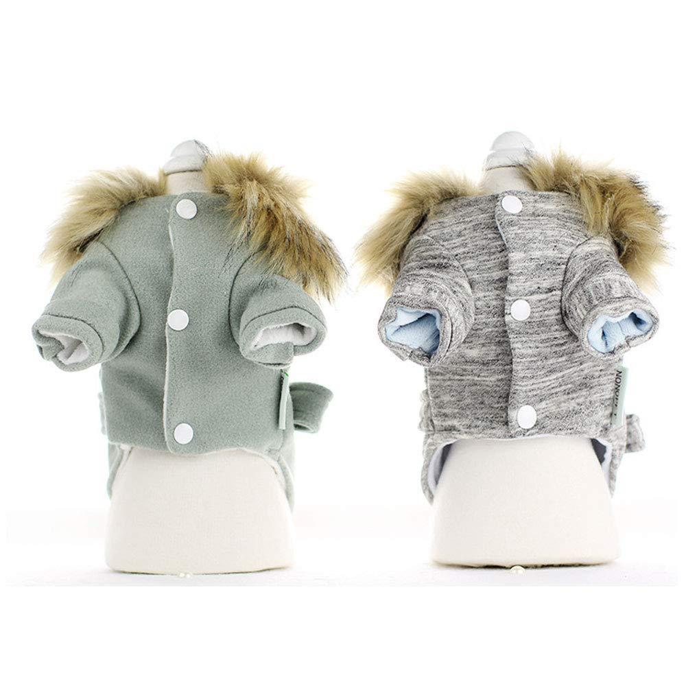 HR Cachorro Ropa para Perros Otontilde;o e Invierno Ropa Ropa Ropa para Mascotas Oso de Peluche Oso Engrosamiento Cazadora de Cuatro Patas (Color : Gray, Tamantilde;o : L) 1210c2