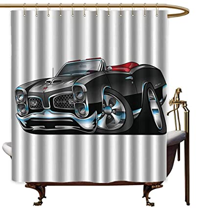 Amazon Com Godves Shower Curtain Cars Fancy American Nostalgic