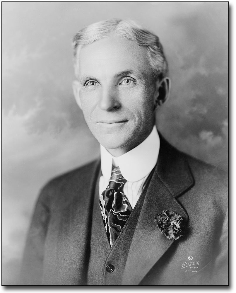 Henry Ford Head & Shoulder Portrait 1919 8x10 Silver Halide Photo Print