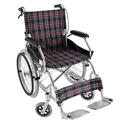 DPPAN Drive Medical Transport Silla de ruedas Plegado ligero para adultos, aleación de aluminio resistente