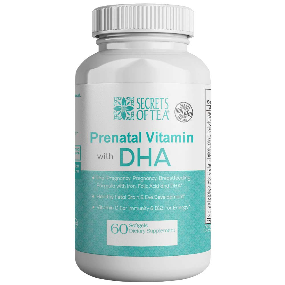 Prenatal Vitamin with DHA- Only Once A Day- 60 Count- Doctor Recommended Gluten Free, Multivitamin, Omega 3 (Dha/Epa) Fish Oil, Folate (Methylfolate), Methyl B12, Vitamin D3