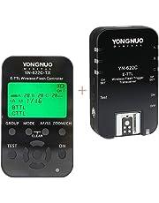 YONGNUO YN622C-KIT - Kit de Disparador inalámbrico E-TTL, con Pantalla LED para Canon, Incluye 1 Controlador YN622C-TX y 1 transceptor YN622 C