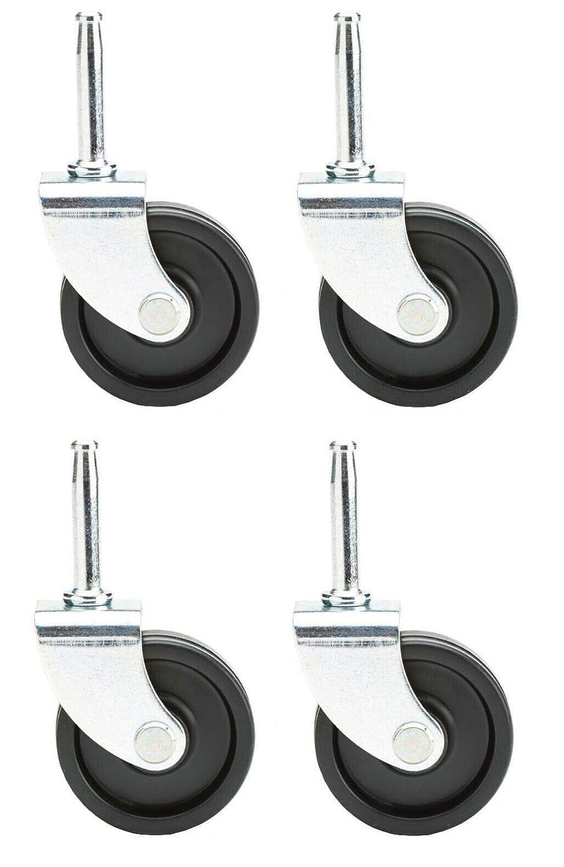 4 Caster Wheels for Craftsman Shop Vac Genie Ridgid 4209296 420-92-96 6772200 Genuine OEM