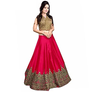76ac51d5c2 Lengha Choli for women new arrival western party wear semistitched Pink  lehenga choli by Woman style: Amazon.in: Clothing & Accessories