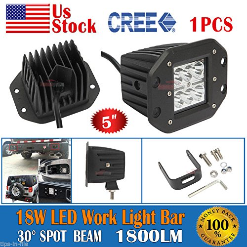 5inch 18W CREE LED Spot Work Light Bar Fog Driving Lamp Offroad Truck 4WD SUV / You get only LED Spot (Kawasaki Kets)