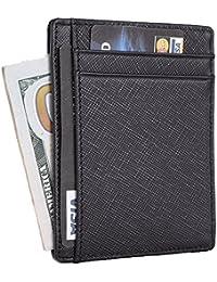 RFID Front Pocket Wallet Minimalist Wallet Slim Wallet...