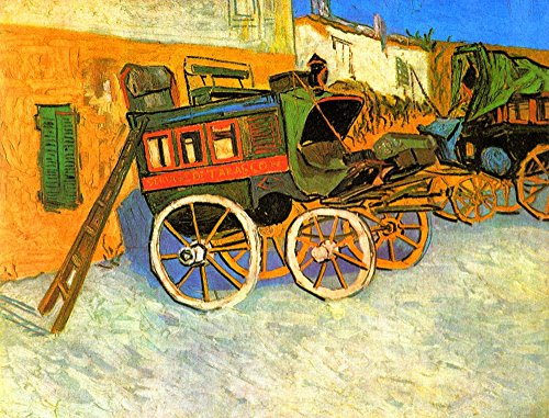 The Museum Outlet - The coach of Tarascon by Van Gogh - Poster Print Online Buy (40 X 50 - Coach Outlet Online Buy